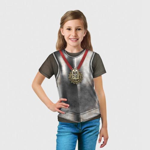 Детская футболка 3D  Фото 03, Доспех рыцаря