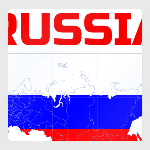 Магнитный плакат 3Х3 Я люблю Россию (I love Russia)