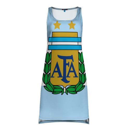 Платье-майка 3D Сборная Аргентины флаг