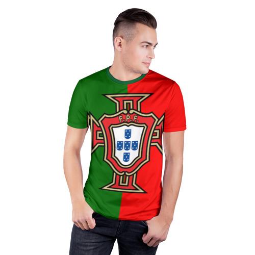 Мужская футболка 3D спортивная  Фото 03, Сборная Португалии флаг