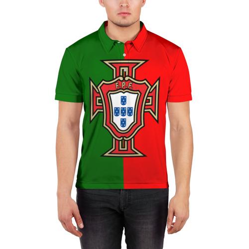 Мужская рубашка поло 3D  Фото 03, Сборная Португалии флаг