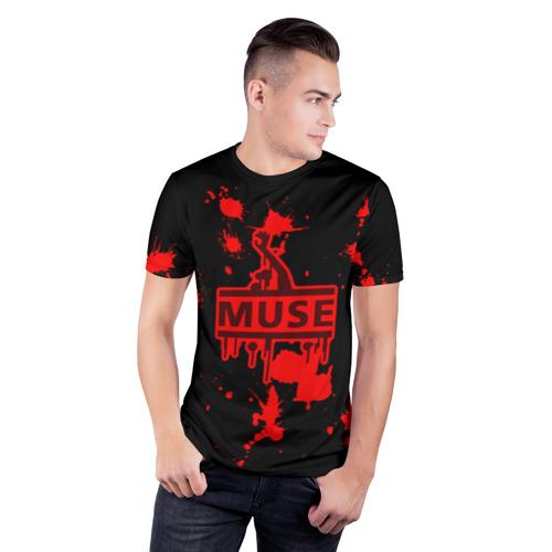 Мужская футболка 3D спортивная  Фото 03, Muse