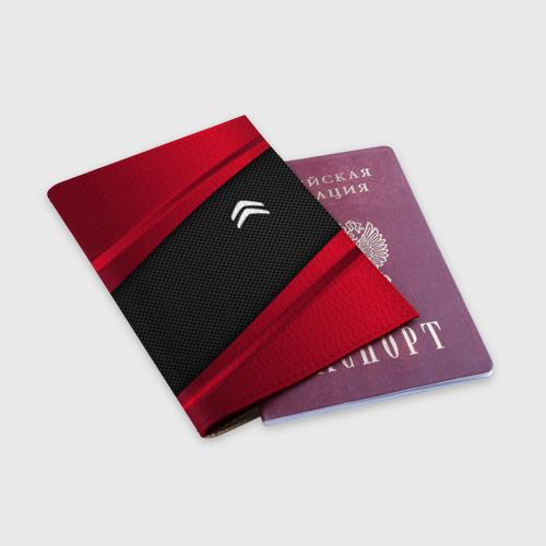 Обложка для паспорта матовая кожа  Фото 03, CITROEN SPORT