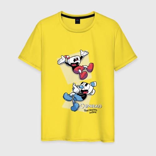 Мужская футболка хлопок  Фото 01, Cuphead (2)