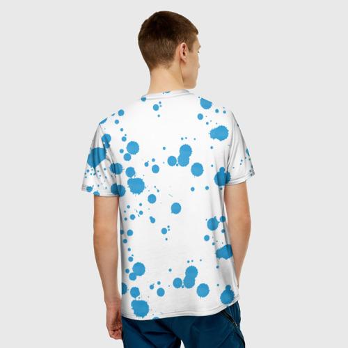 Мужская футболка 3D  Фото 02, Синий волк