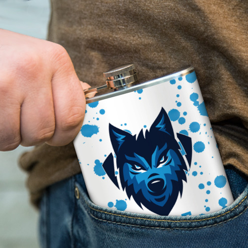 Фляга  Фото 04, Синий волк
