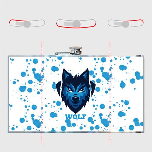 Фляга  Фото 05, Синий волк