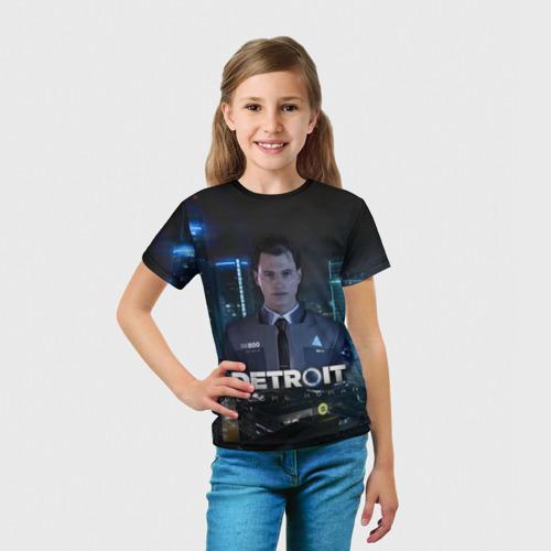 Детская футболка 3D Detroit: Become Human - Connor Фото 01