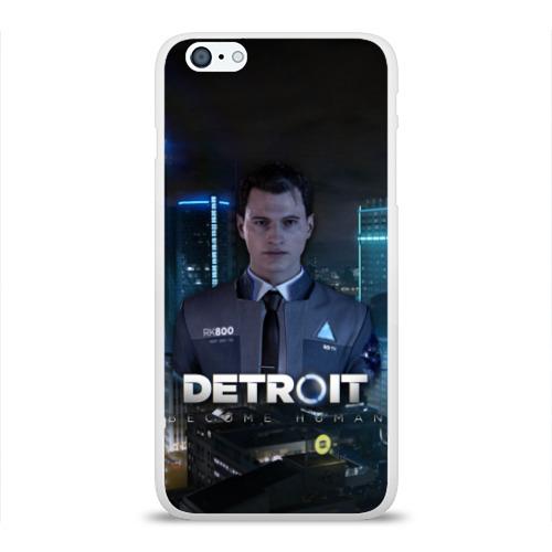 Чехол для Apple iPhone 6Plus/6SPlus силиконовый глянцевый  Фото 01, Detroit: Become Human - Connor