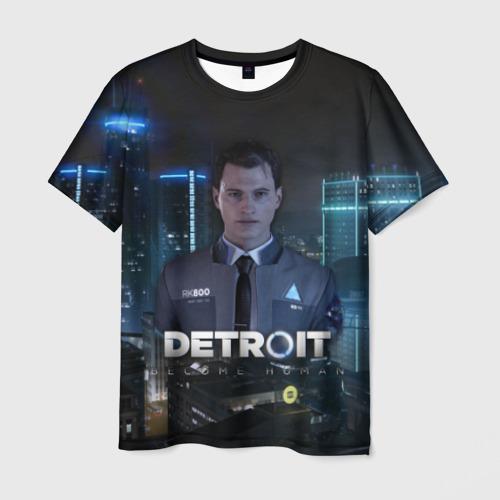 Мужская футболка 3D Detroit: Become Human - Connor