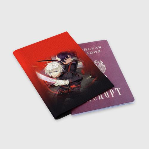 Обложка для паспорта матовая кожа  Фото 03, Shinya & Guren