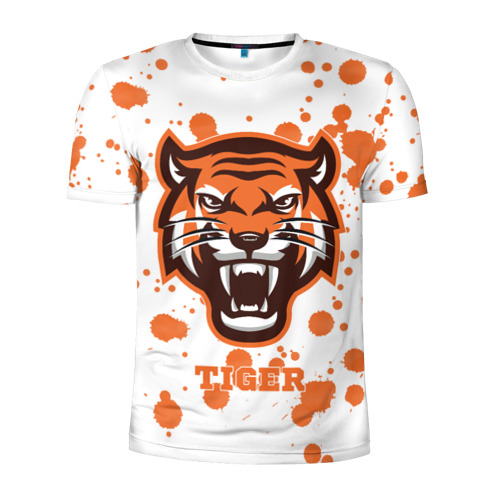 Мужская футболка 3D спортивная  Фото 01, Огненный тигр