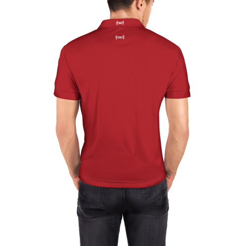 Мужская рубашка поло 3D  Фото 04, Liverpool home 18-19