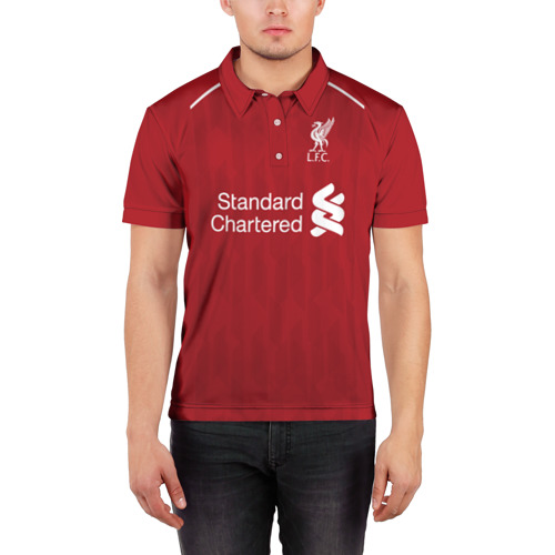 Мужская рубашка поло 3D  Фото 03, Liverpool home 18-19