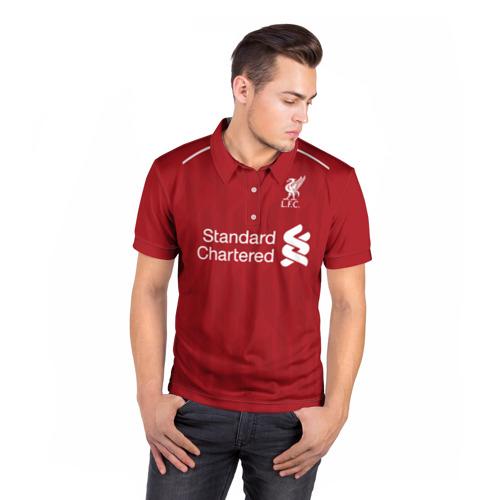 Мужская рубашка поло 3D  Фото 05, Liverpool home 18-19