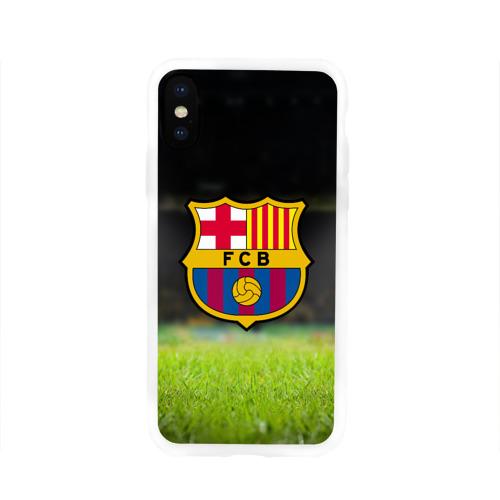 Чехол для Apple iPhone X силиконовый глянцевый BARCELONA