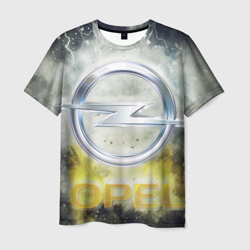 Мужская футболка 3D  Фото 01, Логотип опель