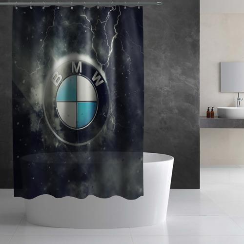 Штора 3D для ванной Логотип BMW Фото 01