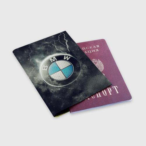 Обложка для паспорта матовая кожа Логотип BMW Фото 01