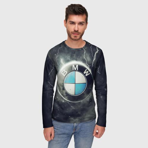 Мужской лонгслив 3D Логотип BMW Фото 01