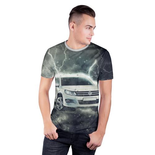Мужская футболка 3D спортивная Volkswagen Tiguan Фото 01