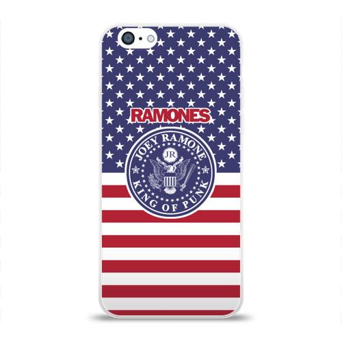 Чехол для Apple iPhone 6 силиконовый глянцевый Ramones Фото 01