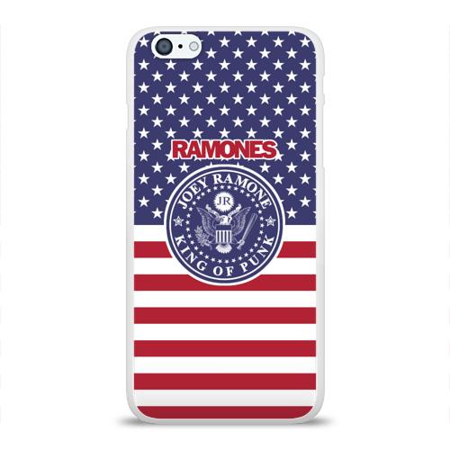 Чехол для Apple iPhone 6Plus/6SPlus силиконовый глянцевый Ramones Фото 01