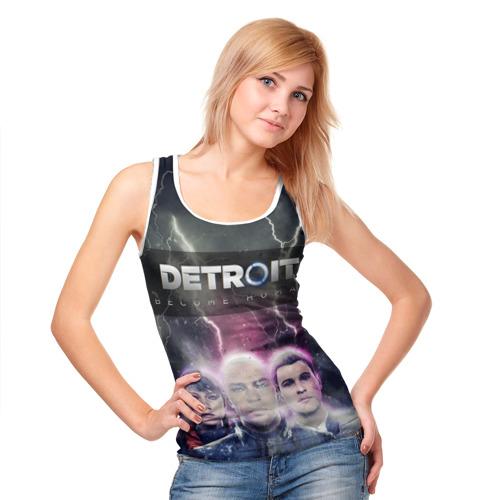 Женская майка 3D  Фото 05, Detroit become human