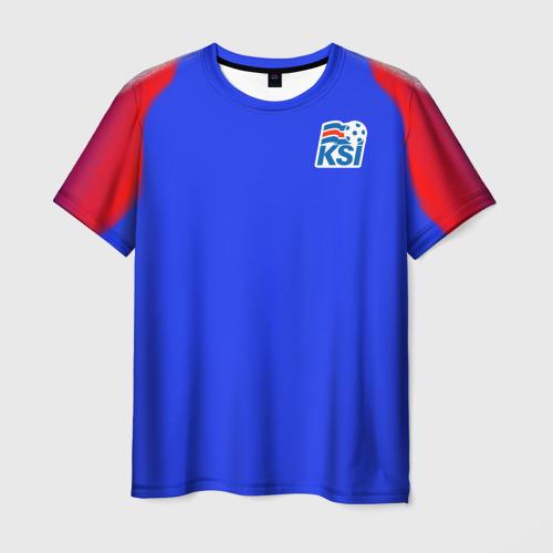 Мужская футболка 3D Сборная Исландии 2018