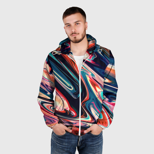 Мужская ветровка 3D  Фото 03, Разноцветные краски