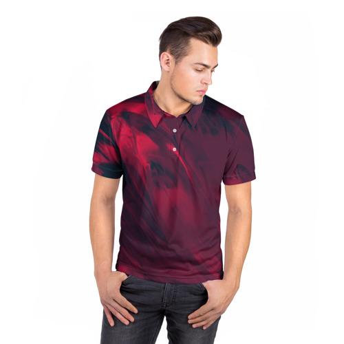 Мужская рубашка поло 3D  Фото 05, abstraction