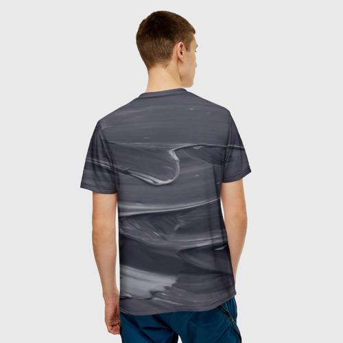Мужская футболка 3D  Фото 02, Серый градиент