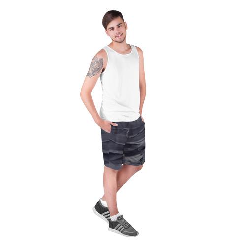 Мужские шорты 3D  Фото 03, Серый градиент