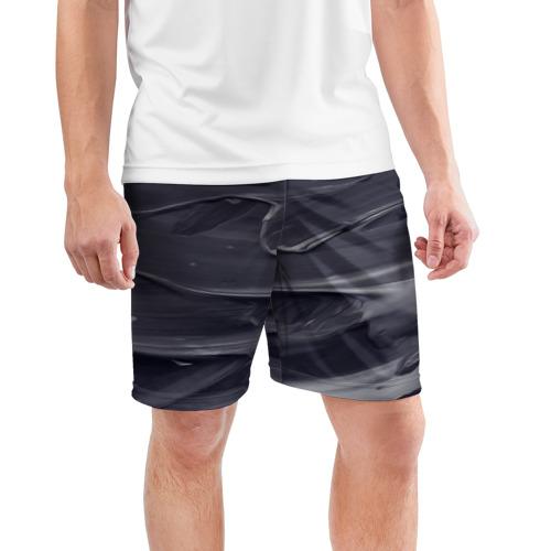 Мужские шорты 3D спортивные  Фото 03, Серый градиент
