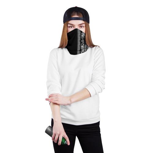 Бандана-труба 3D Узор на чёрном Фото 01