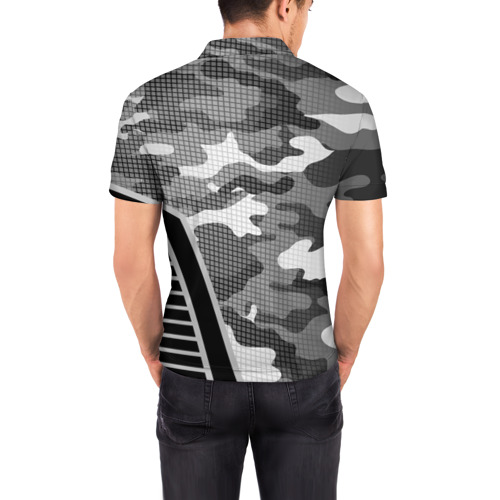 Мужская рубашка поло 3D  Фото 04, Камуфляж Russia