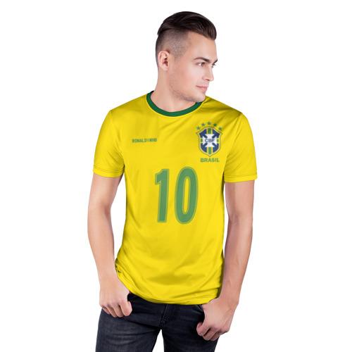 Мужская футболка 3D спортивная Роналдиньо Фото 01