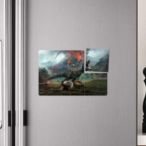 Магнитный плакат 3Х2 мир юрского периода Фото 01
