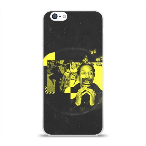 Чехол для Apple iPhone 6 силиконовый глянцевый ASAP Rocky. TESTING Фото 01