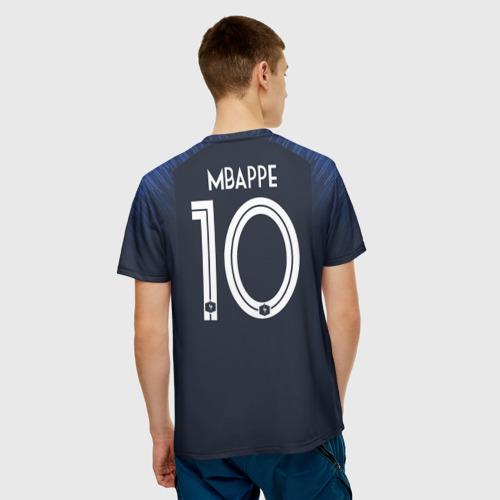 Мужская футболка 3D 'Mbappe home WC 2018'