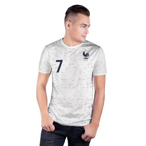 Мужская футболка 3D спортивная  Фото 03, Griezmann away WC 2018