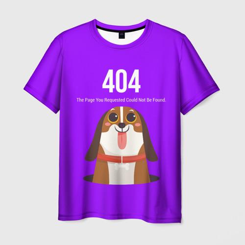 Мужская футболка 3D Not Found Фото 01