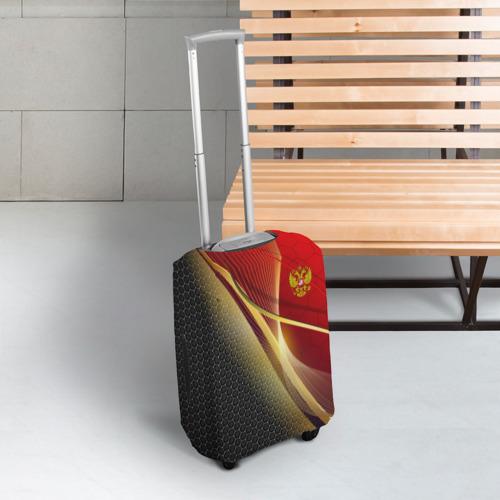Чехол для чемодана 3D RUSSIA SPORT: Red and Black Фото 01