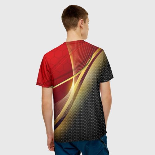 Мужская футболка 3D RUSSIA SPORT: Red and Black. Фото 01