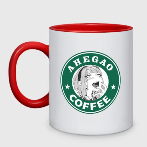 Кружка двухцветная Ахегао кофе Фото 01