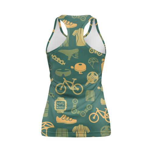 Женская майка 3D спортивная  Фото 02, Велосипед Текстура