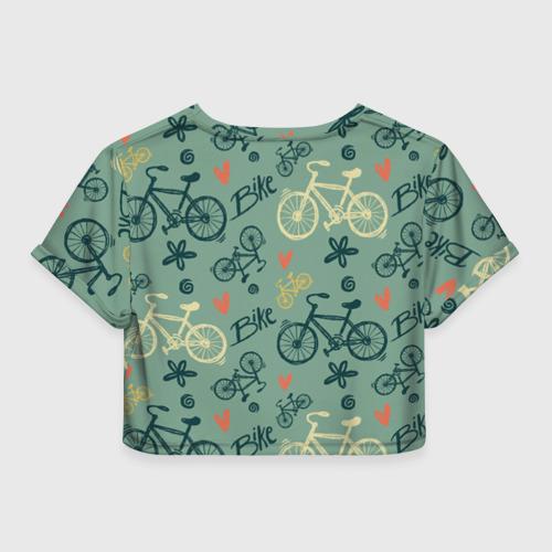 Женская футболка Cropp-top  Фото 02, Велосипед Текстура