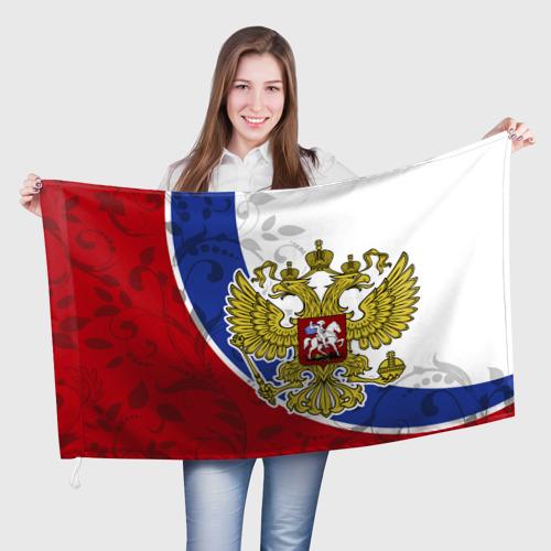Флаг 3D Россия Спорт Фото 01