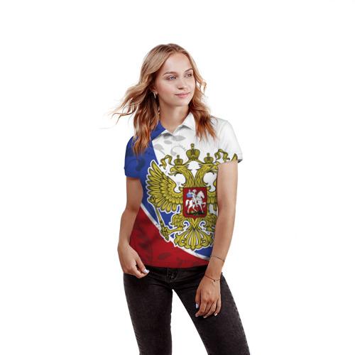 Женская рубашка поло 3D Россия Спорт Фото 01