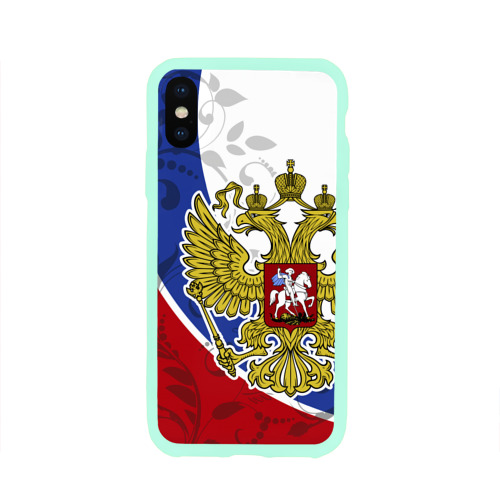 Чехол для iPhone X глянцевый Россия Спорт Фото 01